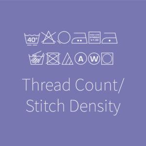 Thread Count/Stitch Density