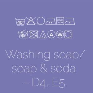 Washing soap/soap & soda – D4, E5
