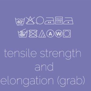 Tensile Strength & Elongation – Grab Method